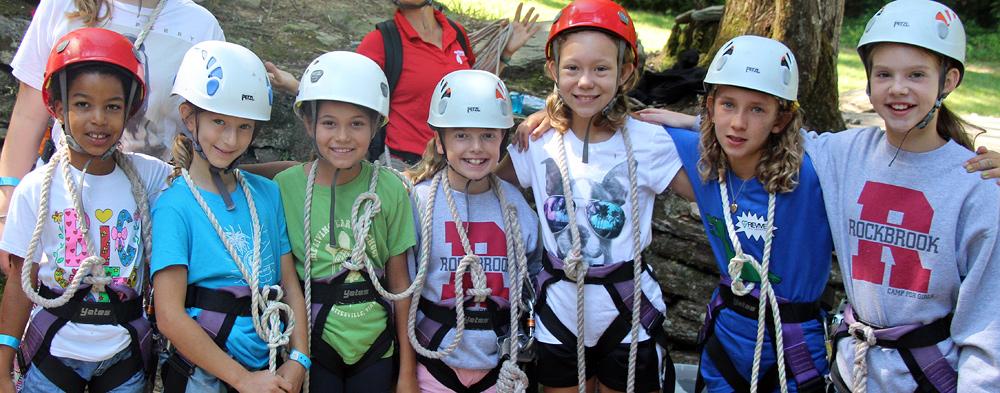 Zip Line Camp Girls