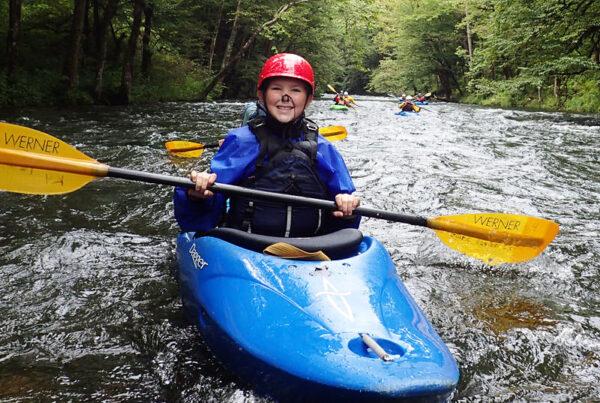 Kid Whitewater Kayaking
