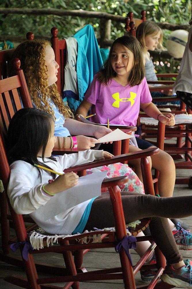 Camp Girls on Porch