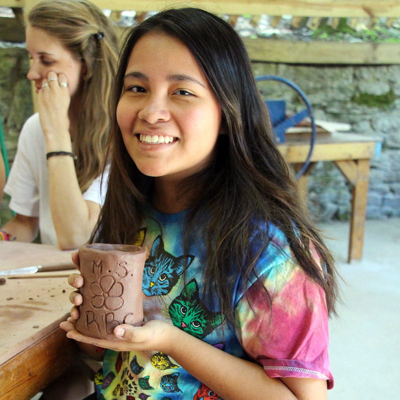 Ceramics Camp Girl