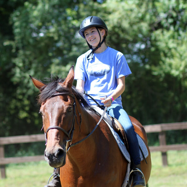 Girl Horse Riding
