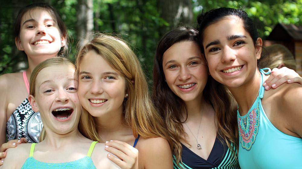 Girls Camp Swim Buddies