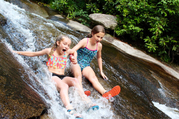 Sliding Rock North Carolina Girls