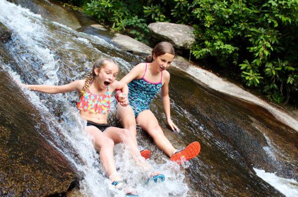 Sliding Rock North Carolina Girls