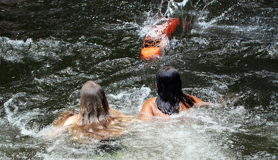 Sliding Rock Swim