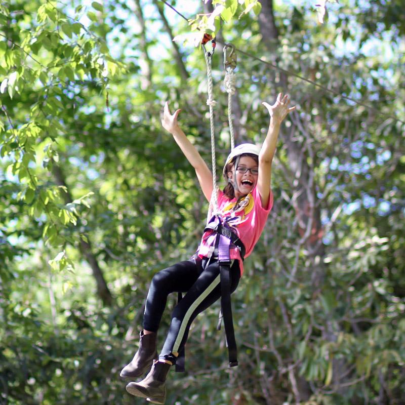 Camp Zip Line Thrill