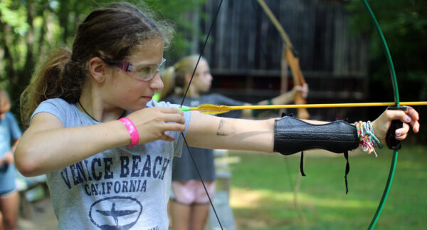 Camp Girl Shooting Archery