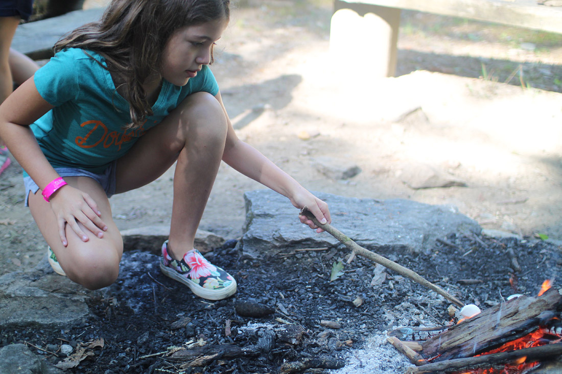 Fire Roasting Marshmallows