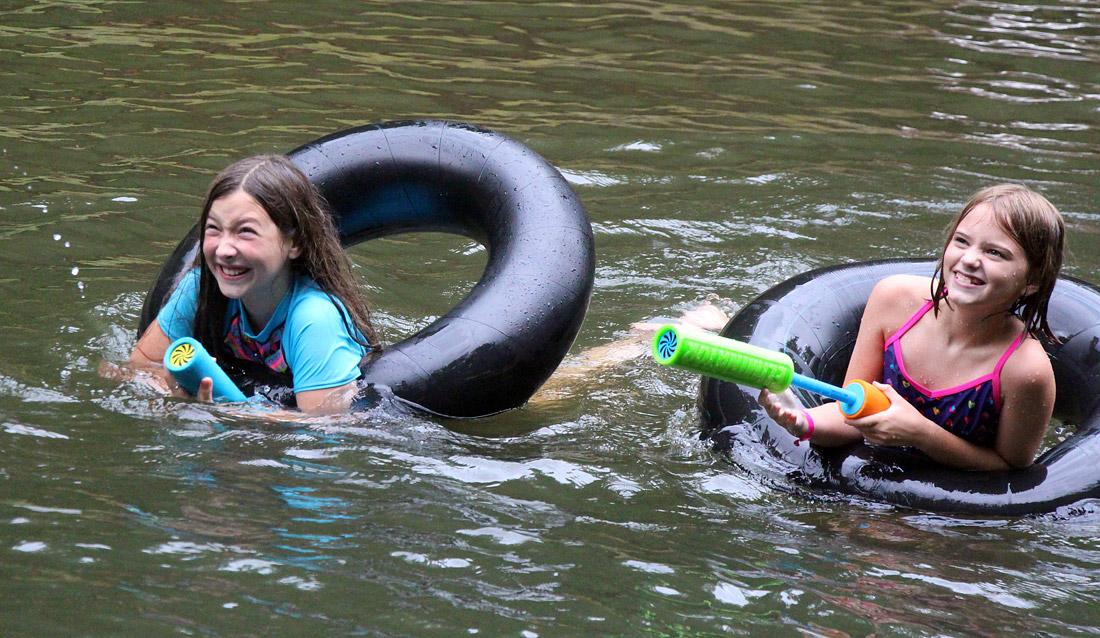 Girl Camp Swimming