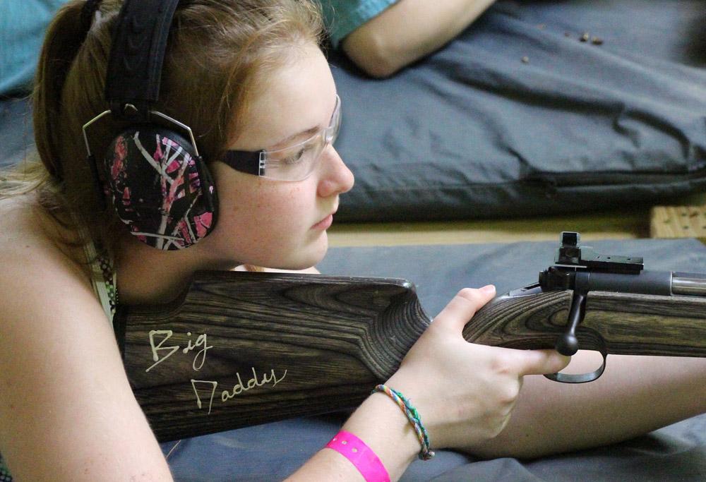 Girl Rifle shooter