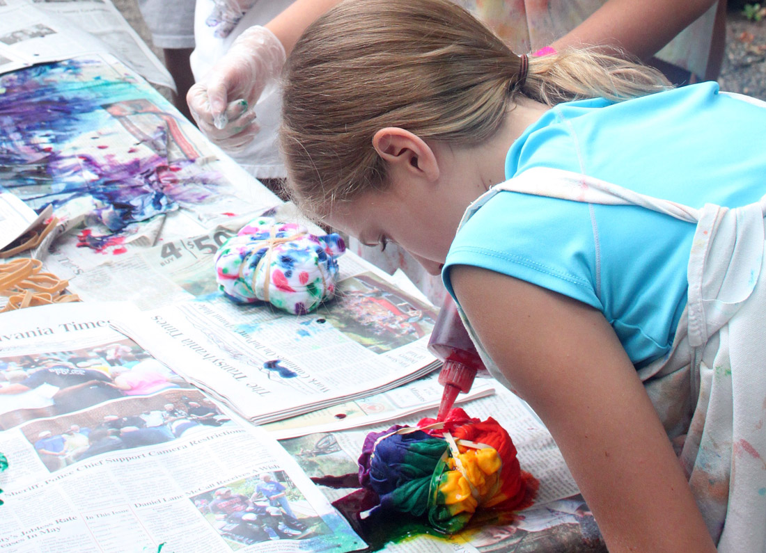 Girl Making Tie Dye Shirt