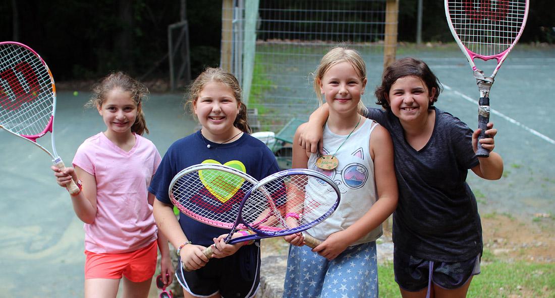 Happy Tennis Campers