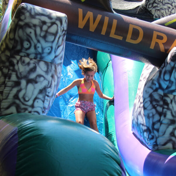 Inflatable water Slide girl