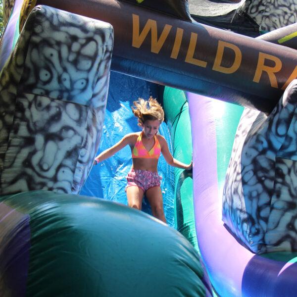 Inflatable water Slide girl