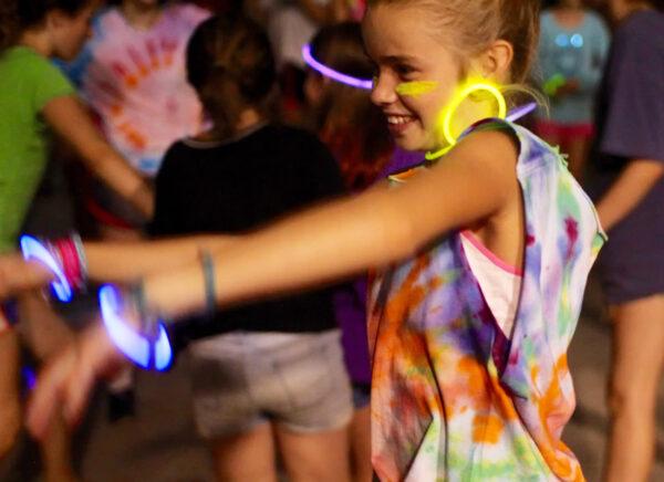 camp girl dancing