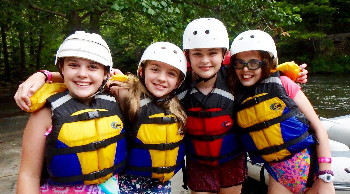 Camp Rafting Girls