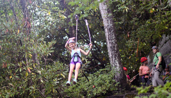 camp kid zip line ride