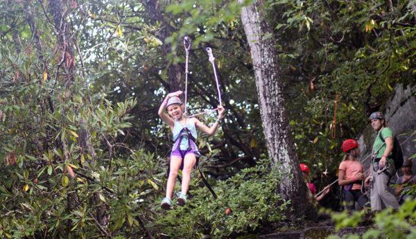 camp kid zip line ride