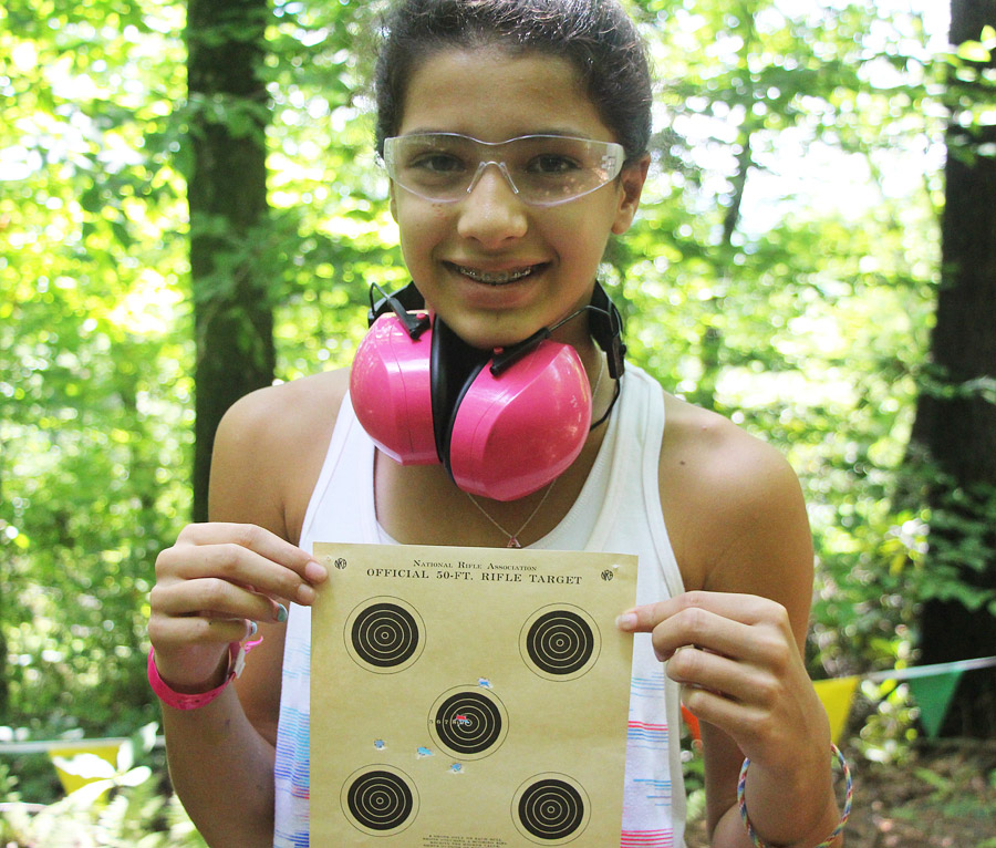 Girl Shooter with Target