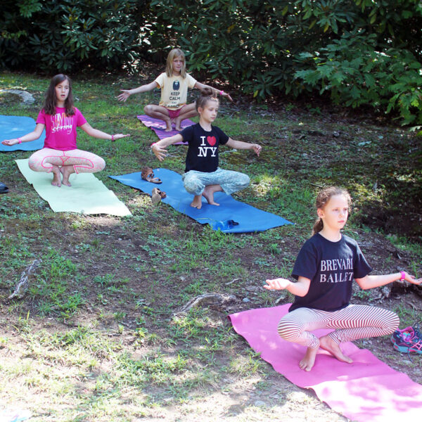 outdoor yoga camp girls