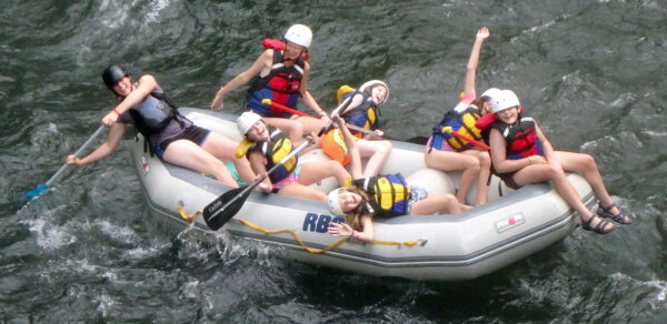 Silly Rafting Camp Girls