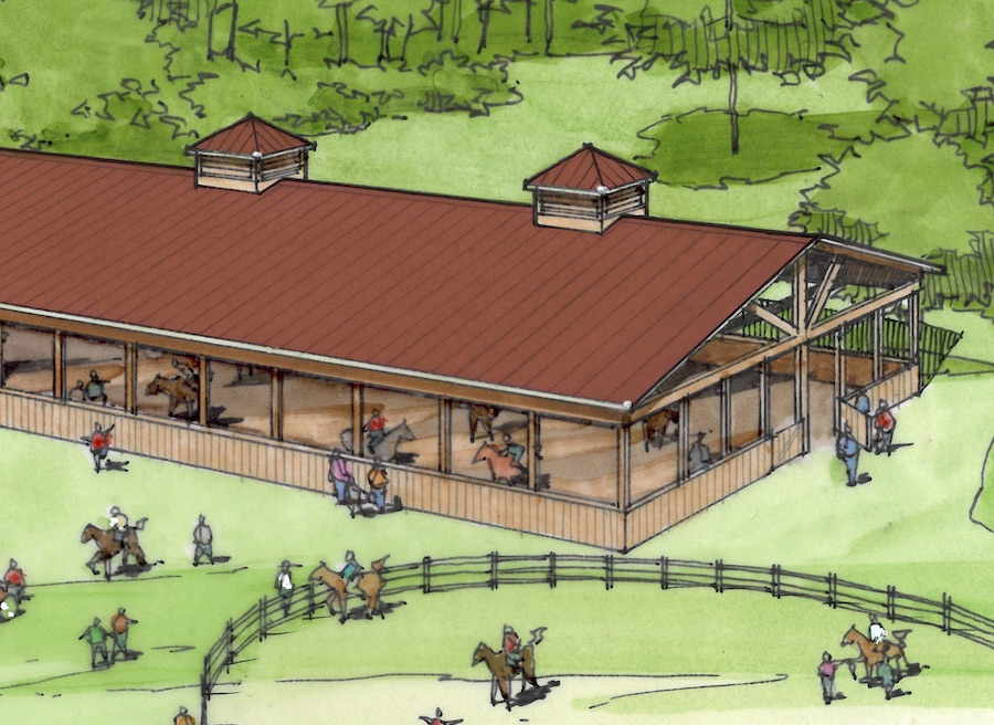 Camp Horse Arena Rendering
