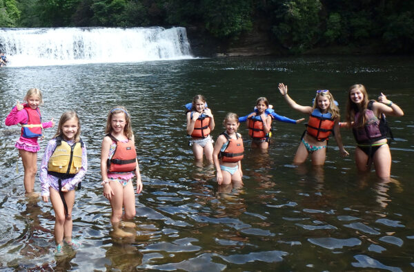 NC waterfall swimming kids