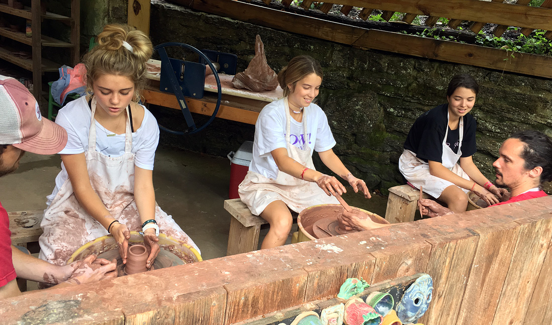 Camp Ceramics Class for Teen Girls