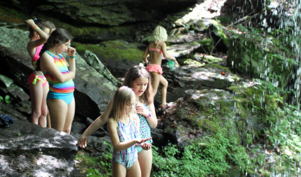 Camp Girls Waterfall