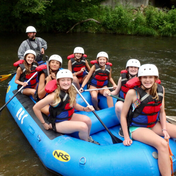 Camp Rafting kids