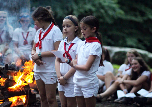 Closing Camp Fire girl presenters