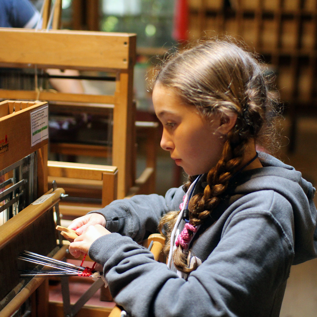 Camp Girl Weaving