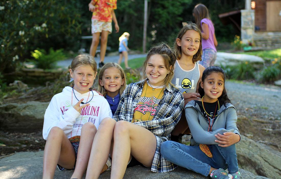 Girls Camp Relaxing