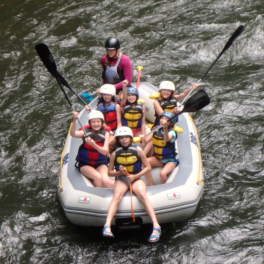 Girls Rafting