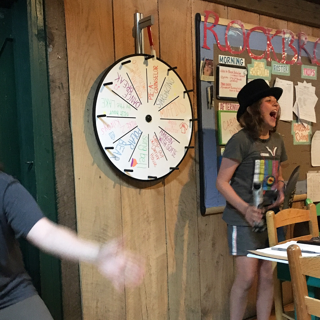 Wheel Spin Fun Camp