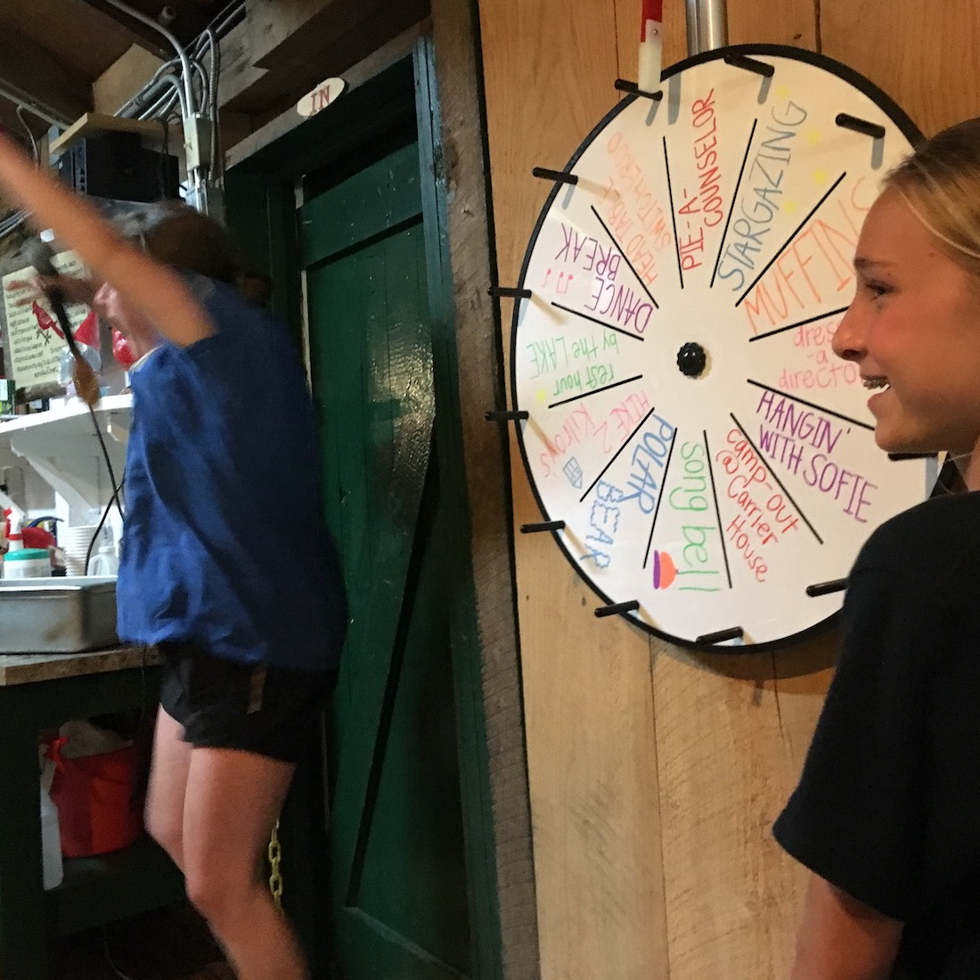 Camp Wheel spin