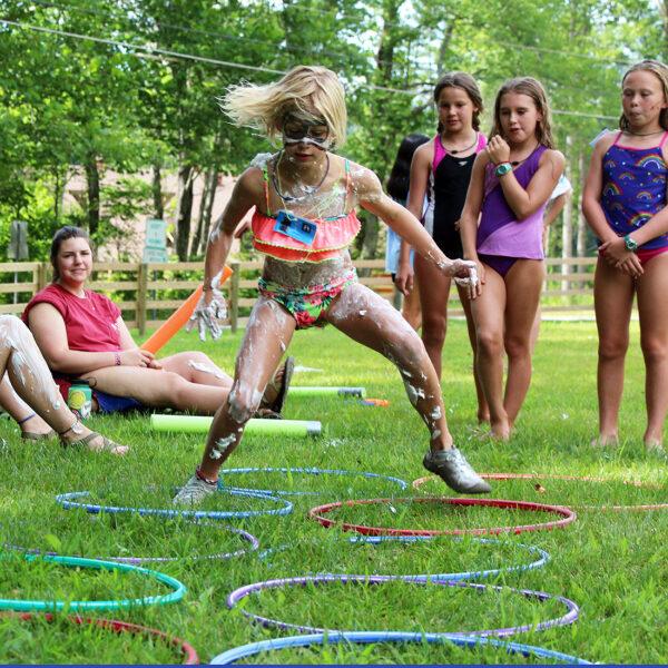 agility course girl