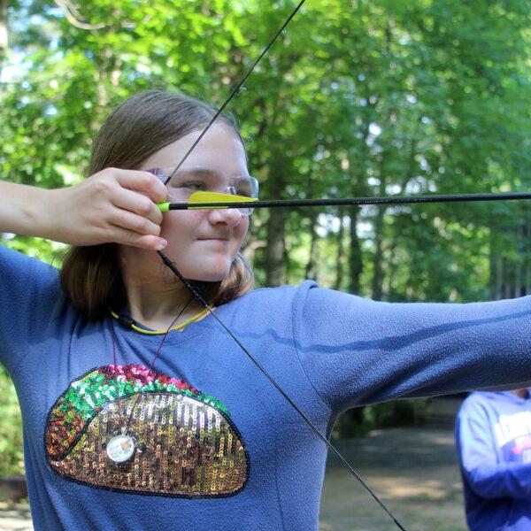 camp archery girl pose