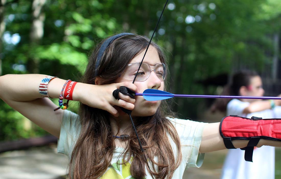 camp archery girl shooting