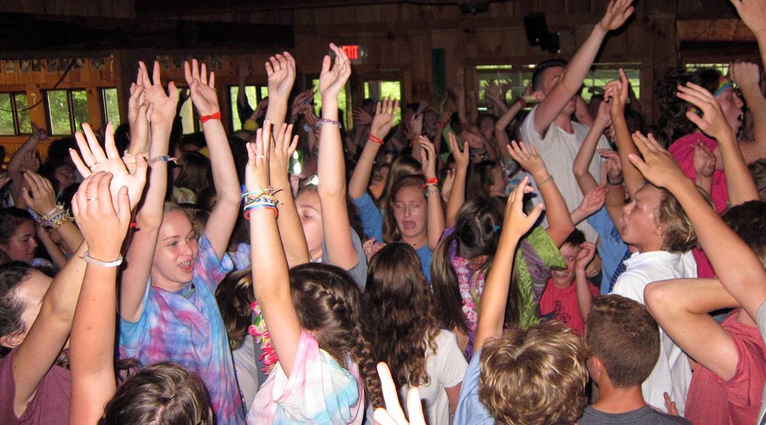camp dance crowd