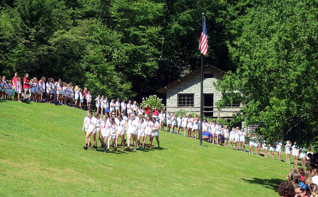 Camp Flag Raising