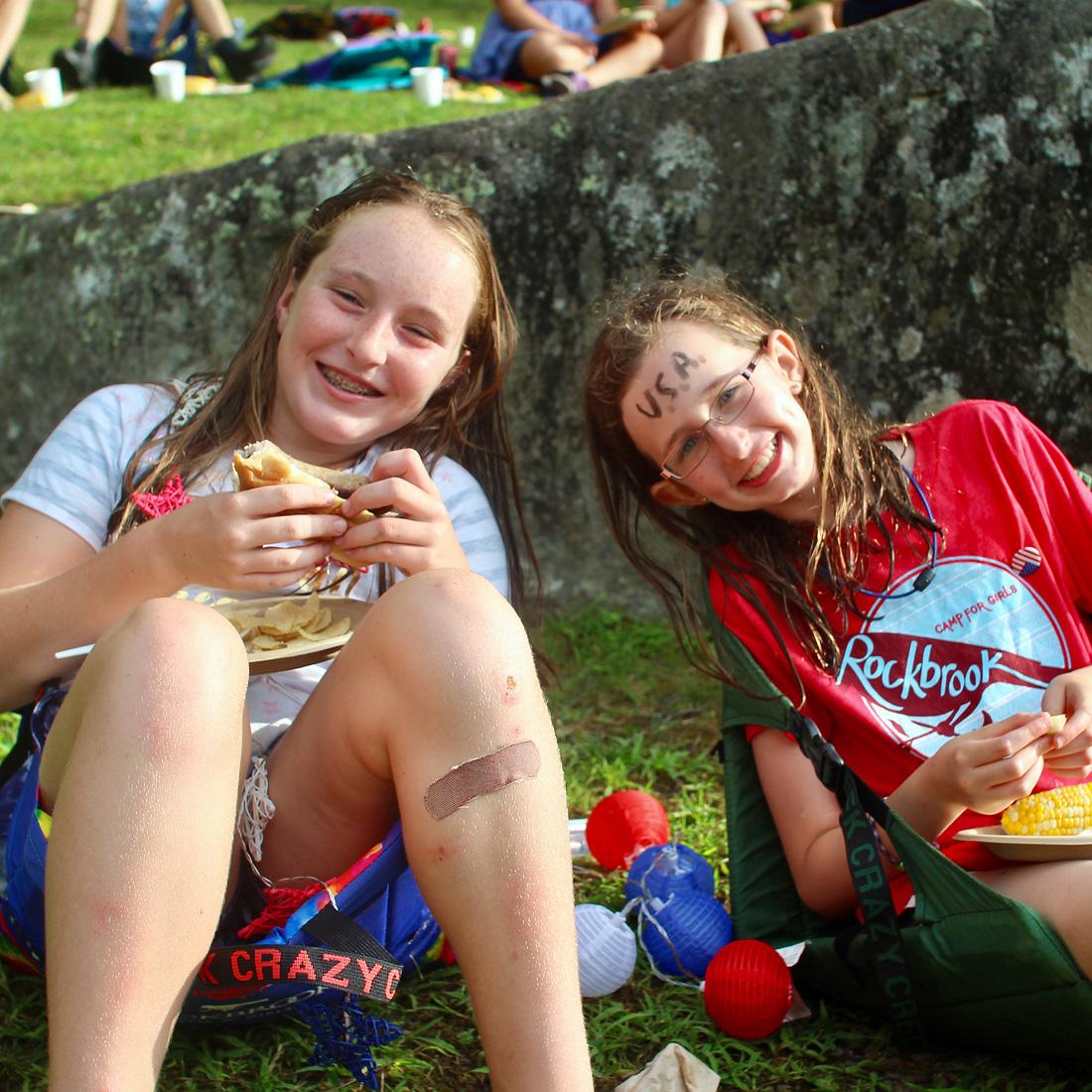 Camp picnic kids