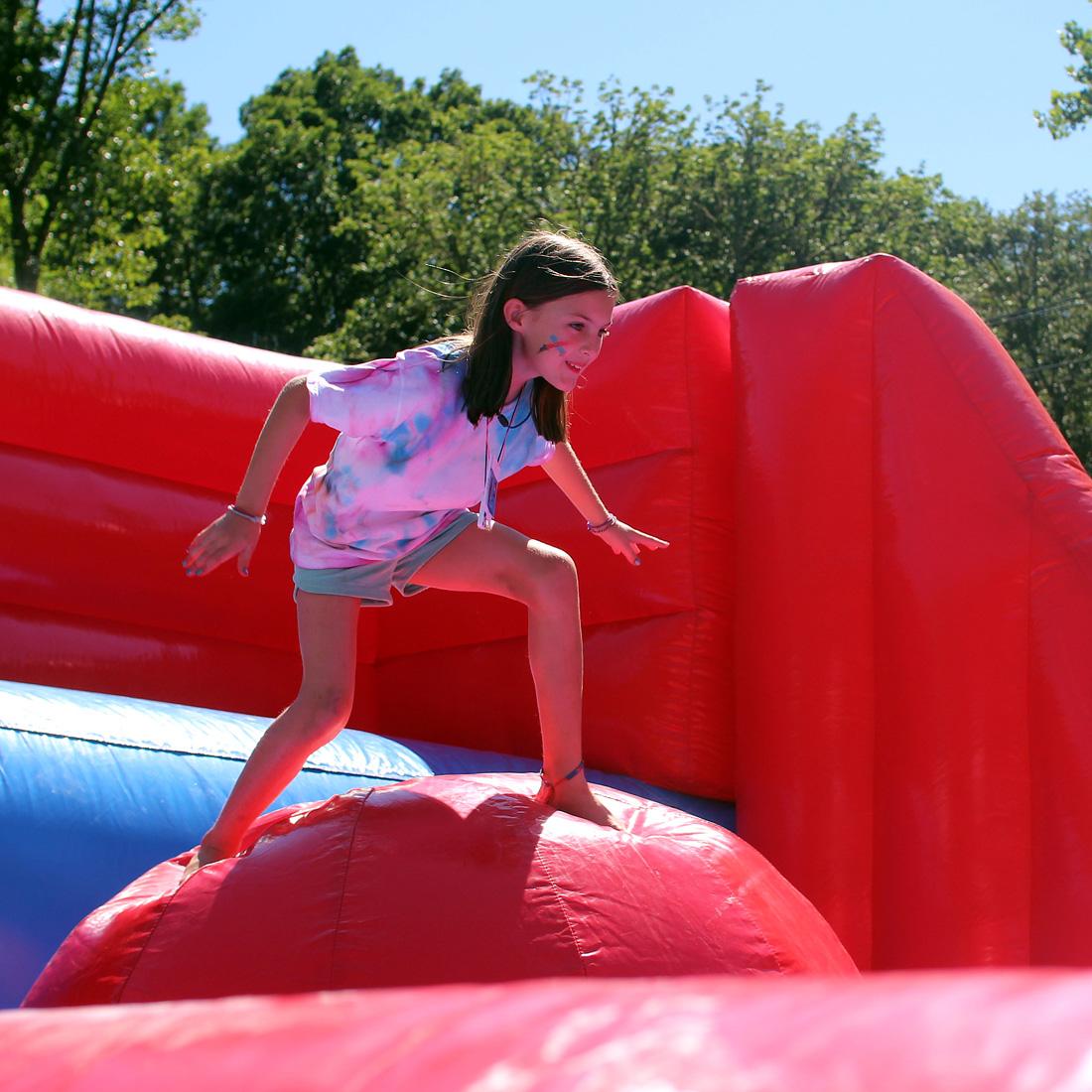 inflatable challenge girl