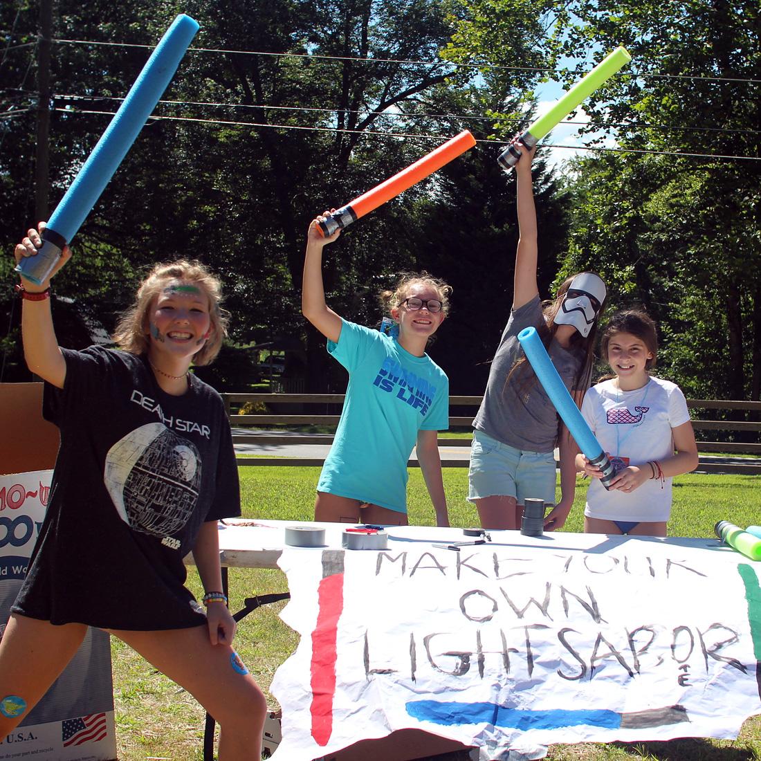 Make a light saber camp project