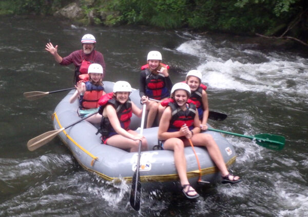 Rafting group wave