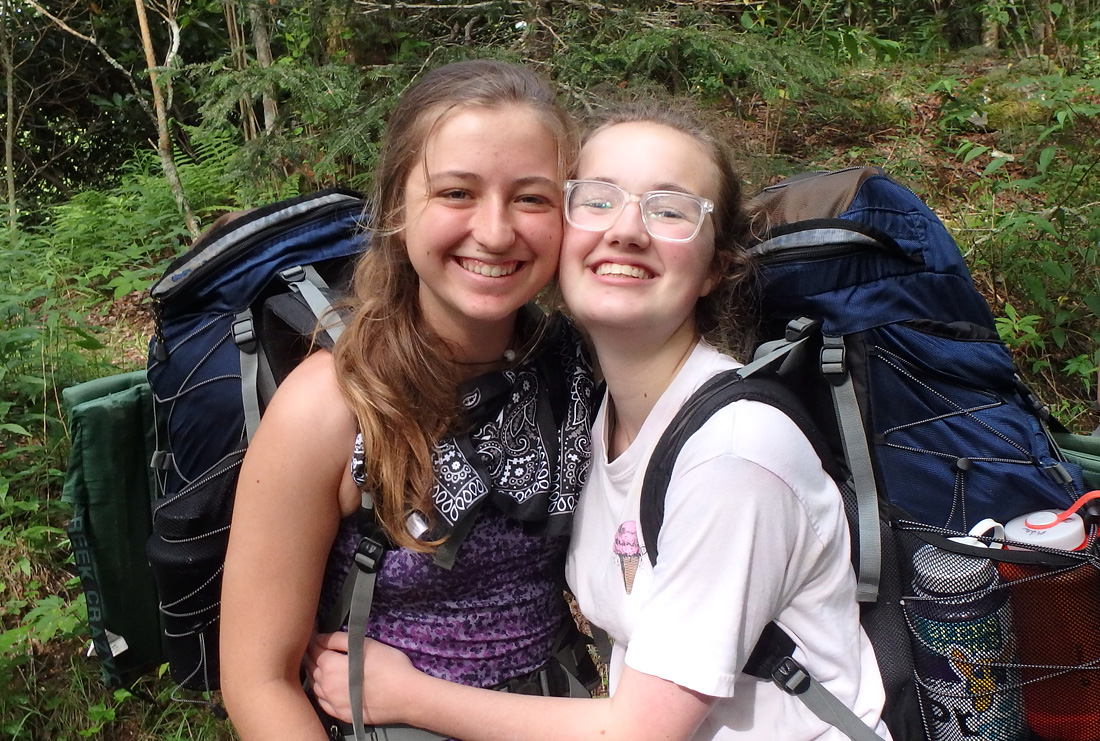 Teen Hiking Girls