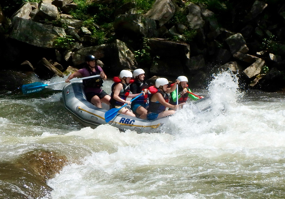 Whitewater Rafting Rapid
