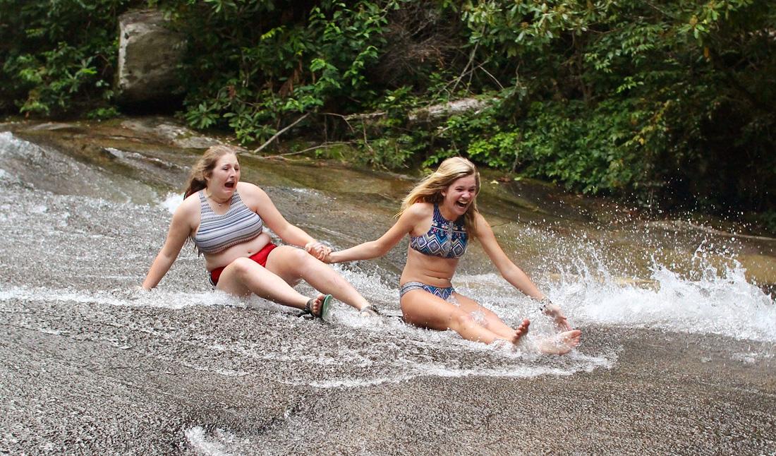 Sliding Rock Emotions