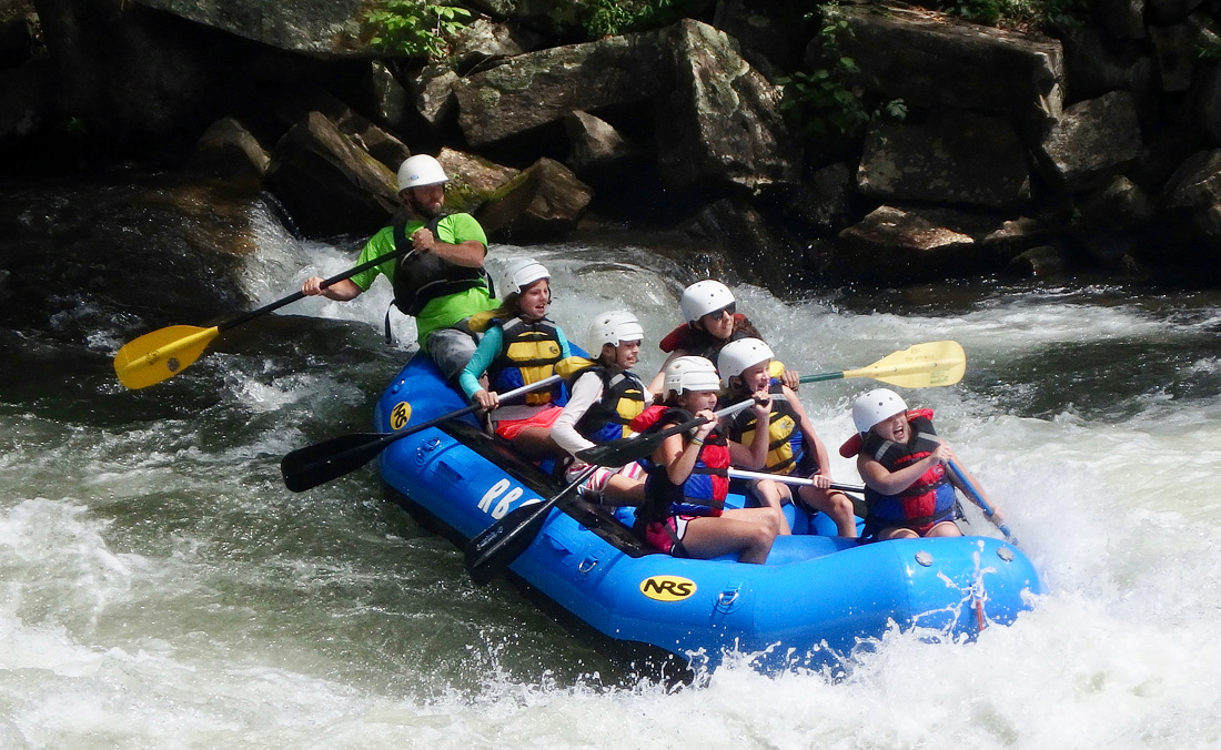 whitewater rafting camp splash