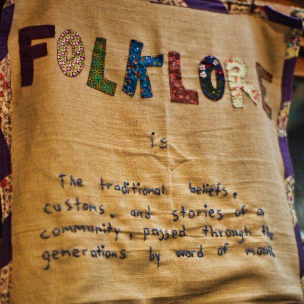 Folklore Crafts Camp Sign
